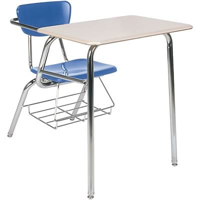 Virco® Desk with Large Writing Surface; Blueberry