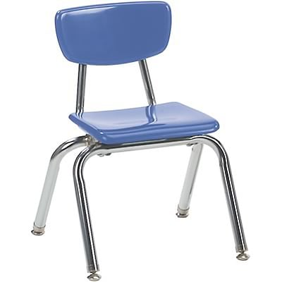 Virco® 12 Stack Chair for Pre-K; Blueberry