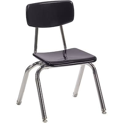 Virco® 14 Stack Chair for Grades 1 & 2; Black