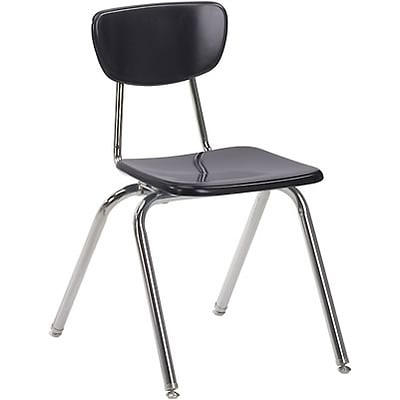Virco® 18 Stack Chair for Grades 4-Adult; Black