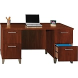 SAVE 10% Bush® Somerset; 60 Double Ped Desk BUNDLE