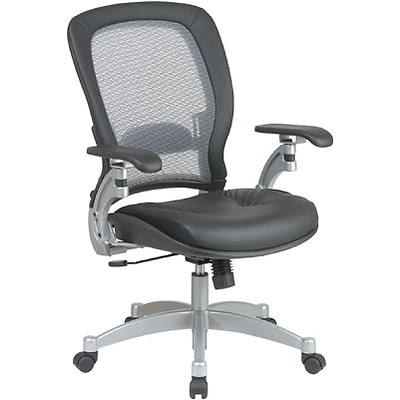 Office Star™ Air Grid 3680 Series Manager Chair with Leather Seat