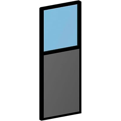 Spacemax Panel Partitions; Tackable Panel w/Plexi-Glass, 66x24