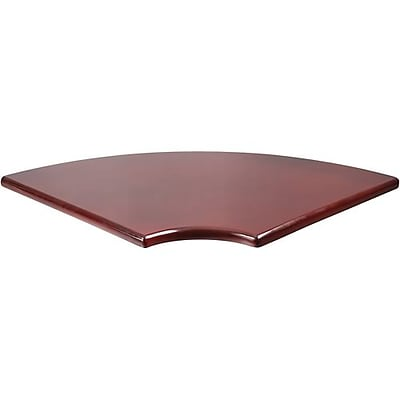 Boss® Reception Room Grouping in Mahogany Finish; Corner Table