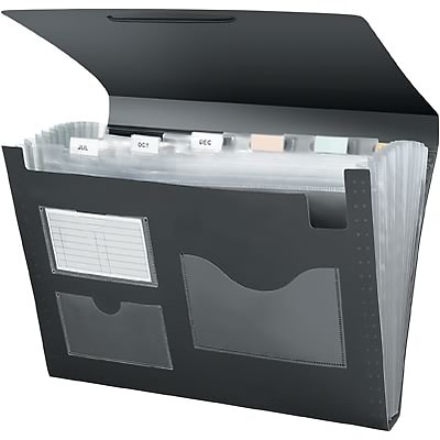 Quill Brand® Poly Expanding Desktop File; Black