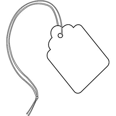 Quill Brand® Blank Merchandise Tags; 2-7/8x1-3/4