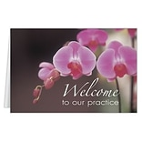 Medical Arts Press® Welcome Cards; Pink Flower, Personalized