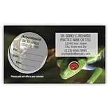 Medical Arts Press® Dual-Imprint Peel-Off Sticker Appointment Cards; Green Frog