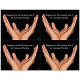 Massage Therapy Laser Postcards; Healing Touch