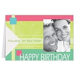 Medical Arts Press® Dental Birthday Cards; Happy Birthday with Yellow Blocks, Blank Inside