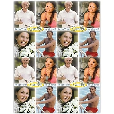 Photo Image Laser Postcards; Keep your smile in shape