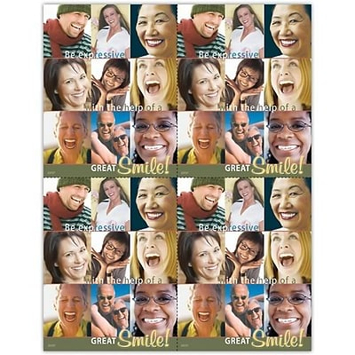 Photo Image Laser Postcards; Be expressive with the help of a great smile
