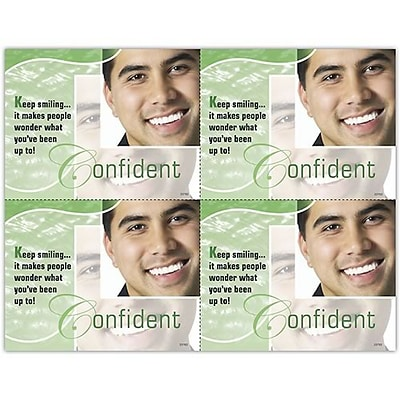 Photo Image Laser Postcards; Confident, Green