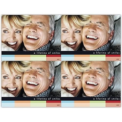 Photo Image Laser Postcards; A lifetime of smiles, Blank