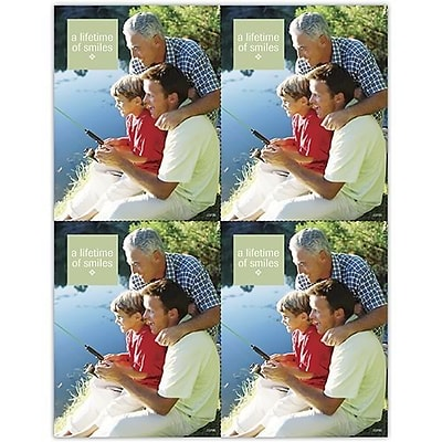 Photo Image Laser Postcards; A lifetime of smiles, Family Fishing