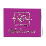 Medical Arts Press® Graphic Impressions Note Cards; Welcome, Personalized