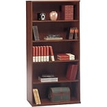 Dark Cherry Open Double Bookcase