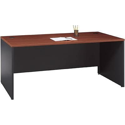 Bush® Corsa Collection in Hansen Cherry Finish; 72 Managers Desk, Ready to Assemble BUNDLE