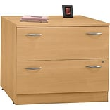 Bush® Corsa Light Oak 2-Drawer Lateral File