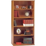 Bush® Corsa Cherry Open Double Bookcase