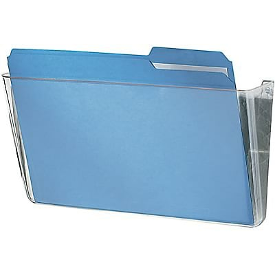 Quill Brand® Single Pocket Plastic Wall File, Clear (737304)