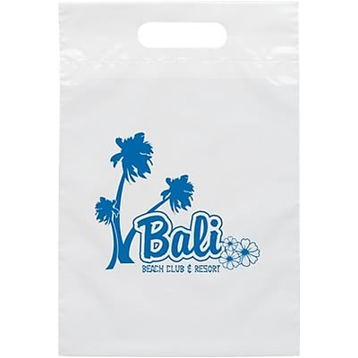 Personalized Die Cut Handle Supply Bags; 9-1/2x14
