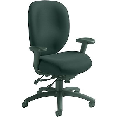 Global® 9398 Series Ergo Task Chairs with Arms; Black