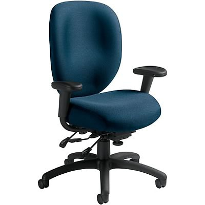Global® 9398 Series Ergo Task Chairs with Arms; Blue
