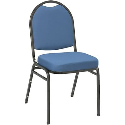 KFI® 520 Series Fabric Padded Seat Stacking Chairs; Blue, Black Frame