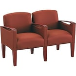 Lesro Brewster Series Reception Furniture in Standard Fabric; 2 Seats with Center Arm