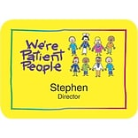 Custom Printed Medical Arts Press® Full-Color Medical Name Badges; Large, Were Patient People