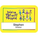 Medical Arts Press® Full-Color Medical Name Badges; Window, Were Patient People