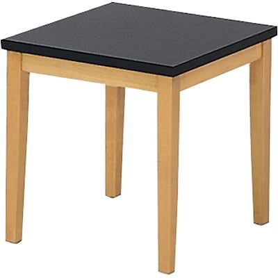 Lesro Lenox Series Reception Furniture in Medium Oak Color Finish; End Table