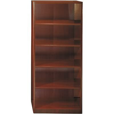 Bush® Quantum Series™ Collections; Harvest Cherry, 5-Shelf Bookcase, Ready to Assemble