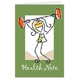 Medical Arts Press® Greeting Cards; Healthy Holly™, Health Note, Blank