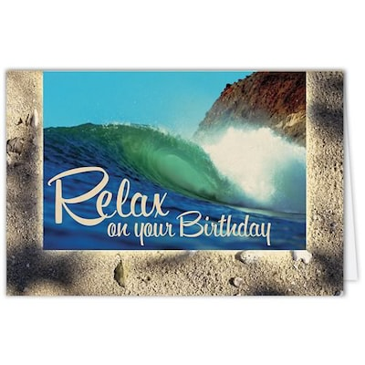 Medical Arts Press® Birthday Greeting Cards; Wave, Blank Inside