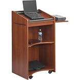 Safco® Cherry Executive Mobile Lecterns