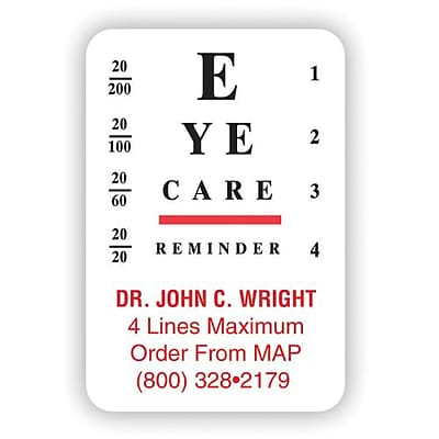 Medical Arts Press Eye Care Cut Magnets Chart Standard Quill