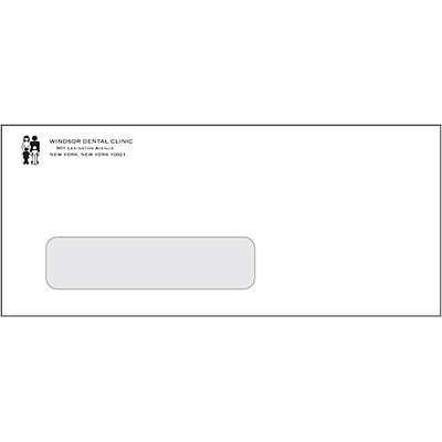 #10 Peel & Seel® Envelopes; 1-Color, Left Window, Personalized, 500/Box
