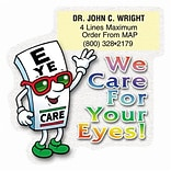 Medical Arts Press® Die-Cut Stickies™; Eye Care Guy