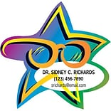 Medical Arts Press® Eye Care Die-Cut Magnets; Star with Eye Glasses