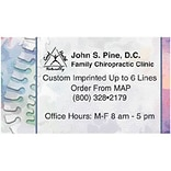 Medical Arts Press® Chiropractic Business Card Magnets; Pastel Spine