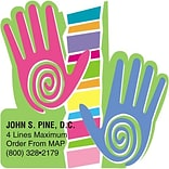 Medical Arts Press® Chiropractic Die-Cut Magnets; Hands Multi-Color