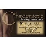 Medical Arts Press® Chiropractic Business Card Magnets; Healing Power