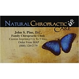 Medical Arts Press® Chiropractic Business Card Magnets; Natural Chiro/Butterfly