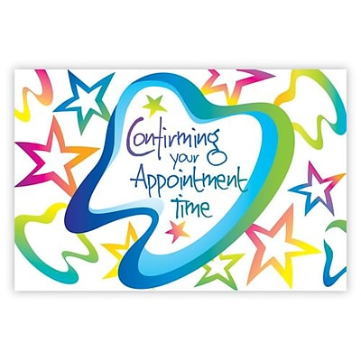 Medical Arts Press® Dental Standard 4x6 Postcards; Confirm Appointment Time