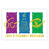 Medical Arts Press® Eye Care Foil Postcards; Just a Friendly Reminder