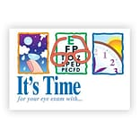 Medical Arts Press® Eye Care Front Imprint 4x6 Postcards; Its Time/3 Logo