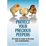 Medical Arts Press® Eye Care Standard 4x6 Postcards; Protect Peepers