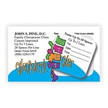 Medical Arts Press® Dual-Imprint Peel-Off Sticker Appointment Cards; Cartoon Spine